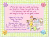 Slumber Party Invitation Sayings Birthday Sleepover Slumber Party Invitations