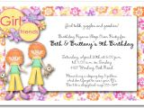Slumber Party Invitation Sayings Red Hair Twins Pajama Party Invitations Sleep Over Party
