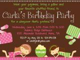 Slumber Party Invitation Sayings Sleepover Birthday Party Invitation Printable