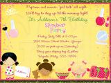 Slumber Party Invitation Sayings Slumber Party Invitation Pajama Party Digital File