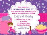 Slumber Party Invitation Sayings Slumber Party Invitation Personalized Custom Sleepover