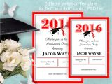 Small Graduation Party Invitations Graduation Invitation Template Instant Download by