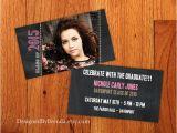 Small Graduation Party Invitations Mini Chalkboard Graduation Invitation Small by