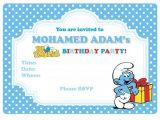 Smurf Baby Shower Invitations 660px
