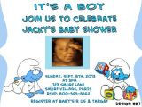 Smurf Baby Shower Invitations Partyexpressinvitati On Etsy