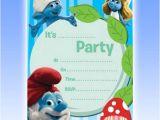 Smurf Baby Shower Invitations Smurfs Baby Shower Invitations