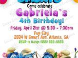Smurf Baby Shower Invitations Smurfs Birthday Invitations