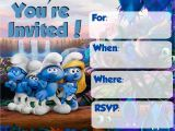 Smurf Birthday Invitations Free Musings Of An Average Mom Smurfs the Lost Village