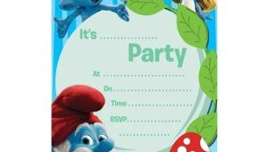 Smurf Birthday Invitations Free Pin by Sylvia Delgado On Smurf Party Pinterest Birthdays