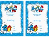 Smurf Birthday Invitations Free Smurfs Birthday Invitations Birthday Printable