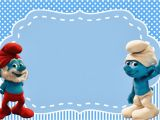Smurf Birthday Invitations Free Smurfs Invitations and Party Free Printables for Boys