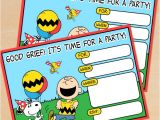 Snoopy Birthday Party Invitations Free Printable Peanuts Birthday Invitation