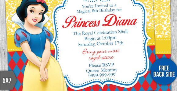 Snow White Birthday Invitation Template Snow White Birthday Invitation Template 3 by