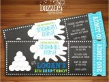 Snowball Party Invitations Printable Winter Snowball Party Birthday Invitation Snow