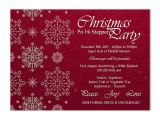 Snowflake Birthday Party Invitations Snowflake and Flourishes Christmas Party Invitation Red