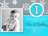 Snowflake Birthday Party Invitations Snowflake Birthday Invitations Winter Birthday Invitation