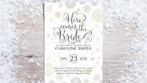 Snowflake Bridal Shower Invitations Printable Bridal Shower Invitations Winter Bridal Shower