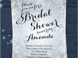 Snowflake Bridal Shower Invitations Snowflake Bridal Shower Invitation Winter Silver White