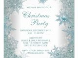 Snowflake Party Invitation Template Elegant Christmas Party Invitation Word Party