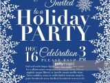 Snowflake Party Invitation Template Snowflake Holiday Party Invitation Template Blue Vector
