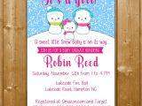 Snowman Baby Shower Invitations Snowman Baby Shower Invitation Girl Snowman Baby Shower