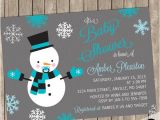 Snowman Baby Shower Invitations Snowman Shower Invitation Boy Winter Baby Shower