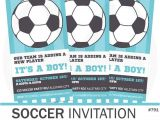 Soccer Baby Shower Invitations soccer Baby Shower Invitation soccer Invitation by