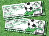 Soccer Baby Shower Invitations soccer Ticket Pass Football Baby Shower Printable 2 5 X 7