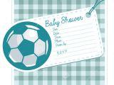 Soccer Ball Baby Shower Invitations soccer Baby Shower Invite Card Stock Vector Image