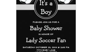 Soccer Ball Baby Shower Invitations soccer Ball Sports Its A Boy Girl Baby Shower 5×7 Paper