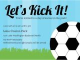 Soccer Birthday Party Invitation Templates Free Free soccer Ball Birthday Party Invitation Template