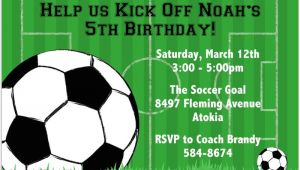 Soccer Birthday Party Invitation Templates Free Free soccer Party Invitation