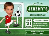 Soccer Invitations for Birthday Party soccer Birthday Invitations Printable