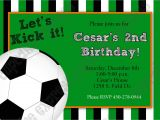 Soccer Invitations for Birthday Party soccer Invitation Template