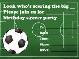 Soccer Party Invitation Template Kids Birthday Party Invitations Free Printable