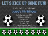 Soccer Party Invitation Template soccer Birthday Invitation Template