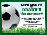 Soccer Party Invitation Template soccer Invitation Printable Football Birthday Invite