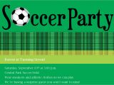 Soccer Party Invitation Template soccer Party Invitation