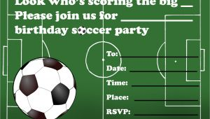 Soccer themed Birthday Party Invitations Kids Birthday Party Invitations Free Printable