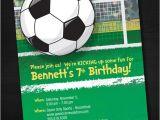 Soccer themed Birthday Party Invitations soccer Birthday Invitations