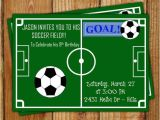 Soccer themed Birthday Party Invitations soccer Party Invitation Goal Pinterest soccer