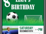 Soccer themed Birthday Party Invitations soccer Photo Birthday Party Invitations Digital File Diy