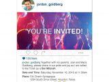 Social Media Party Invitations social Media Bar Mitzvah Invitation