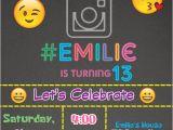 Social Media Party Invitations social Media Birthday Invitation New Generation Emoji