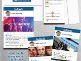 Social Media Party Invitations social Media Sharing Bar Mitzvah Invitation Set My