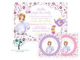 Sofia the First Tea Party Invitations Copy Of sofia the First Princess thelovelymemories