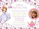 Sofia the First Tea Party Invitations Princess sofia the First Princess Birthday Tea Party theme
