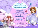 Sofia the First Tea Party Invitations sofia the First Invitation sofia Tea by Myprintablepartyline