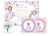 Sofia the First Tea Party Invitations sofia the First Princess Birthday Tea Party theme Invitation