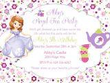 Sofia the First Tea Party Invitations sofia the First Princess Birthday Tea Party theme